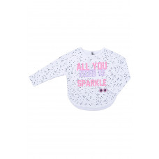 300437 Джемпер/пузырики на белом