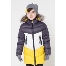 34042/2 УЗ Куртка/графит, белый, желтый