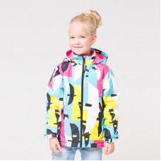 32087/н/1 куртка/бирюза, темно-розовый, птицы