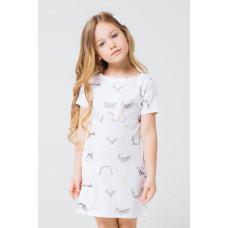 1145 Сорочка/веселые детки на белом