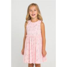 5442 Платье/светлый лосось, летние цветы