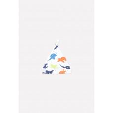 8036 Шапочка /динозавры на белом