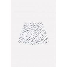 7099 юбка/св.серый меланж, крапинка к227