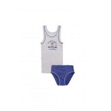 1094 Комплект/серо-голубой меланж, джинсовый