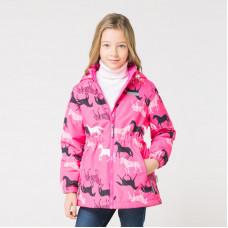 32052/н/4 куртка/неоново-розовый, зебры