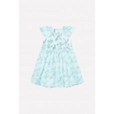 5537 Платье-боди /минт, летние цветы