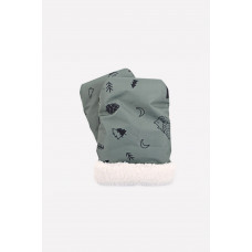 10007/н/3 рукавицы/зеленый, лесные животные
