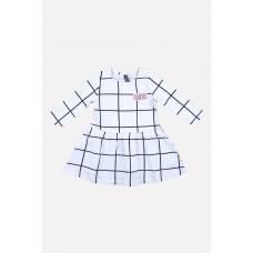 5464 Платье/монохромная клетка на белом
