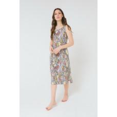 Е5166 Платье/серо-голуб.меланж, крапинка
