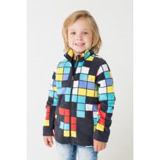 34025/н/15 Куртка/графит, тетрис