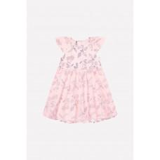 5537 Платье-боди /светлый лосось, летние цветы