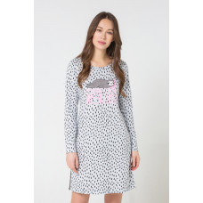 Е5164 Платье /серо-голуб.меланж, крапинка