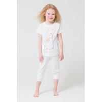 1548 Пижама/мелкая крапинка на белом