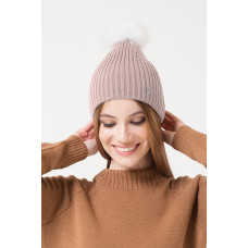 202/ш шапка/ бежево-розовый