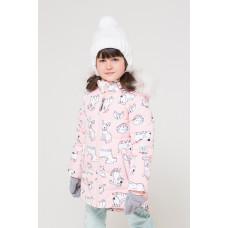 34038/н/1 Куртка/светло-розовый, собачки