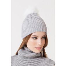 202/ш шапка/св.серый меланж