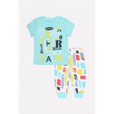 1525 Пижама/минт, цветные штрихи