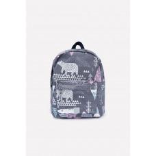 1001/88 рюкзак/серый, белые мишки