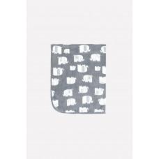 85000/н/26 Плед/ темно-серый, маленькие слоники