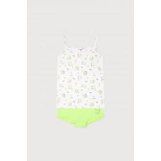 1167 комплект/авокадо на белом, ярко-зеленый