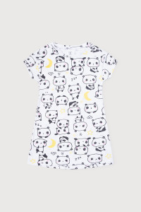 К 1145_Сорочка-большие панды на белом