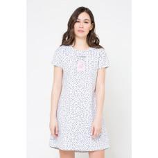 Е5178 Платье/св.серый меланж, крапинка