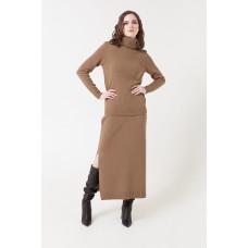 716/ш юбка/коричневый