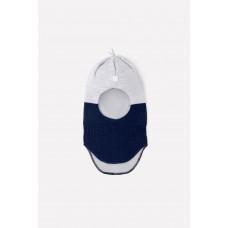 20033/20ш шапка/св.серый меланж, темно-синий