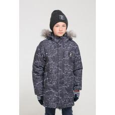 36049/н/1 Куртка/черный, абстракция