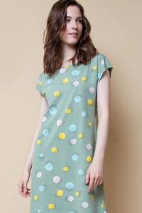Е 5189_Платье_милитари, цветные шарики