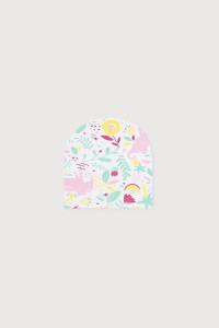 К 8102_Шапочка_белый, слоники в цветах к1260