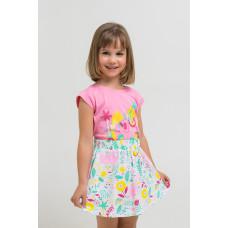 7097 юбка/белый, слоники в цветах к1260
