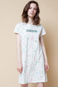 Е 5191_Платье-сливки, листья папоротника