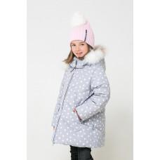 34047/н/1 Куртка/светло-серый, снежки