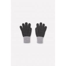 109 перчатки/тем.серый меланж, св.серый меланж