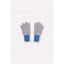 109 перчатки/св.серый меланж, голубой