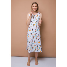 Е5169 платье/св.серый меланж, туканы