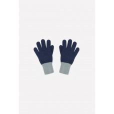 109 перчатки/темно-синий, св.серый меланж