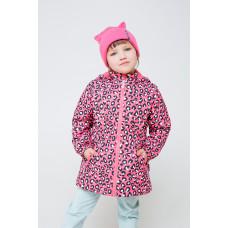 32096/н/1 куртка/розовый, леопард
