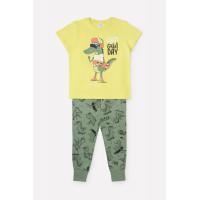 1529 Пижама/яблоко, крокодилы на зеленом