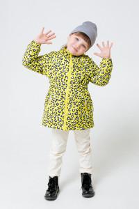 ВК 32096/н/2 ГР_куртка_ярко-желтый, леопард