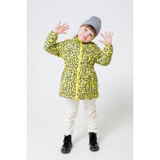 32096/н/2 куртка/ярко-желтый, леопард