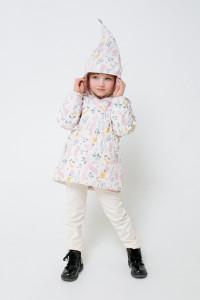 ВК 32096/н/5 ГР_куртка_белая лилия, зайчики в цветах