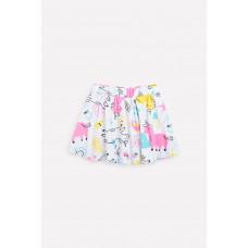 7097 юбка/св.серый меланж, единороги и цветы к1268