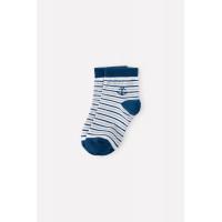 9614/1 носки/белый, синяя полоска