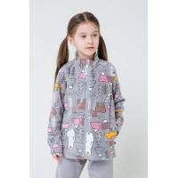 Куртка ФЛ 34025/н/22 ГР/светло-серый, мишки и друзья
