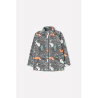 Куртка ФЛ 34025/н/23 ГР/темно-серый, лесные животные