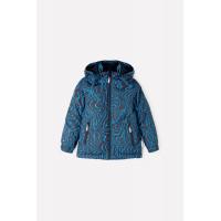 36059/н/1 ГР Куртка/черный, синие волны