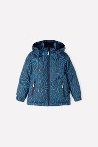 ВК 36059/н/1 ГР_ Куртка_черный, синие волны